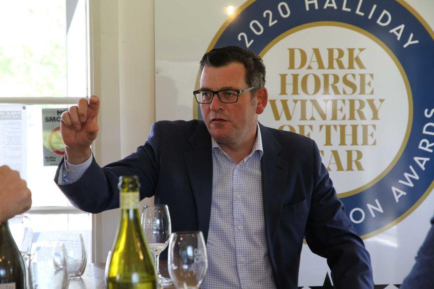 Daniel Andrews at winery