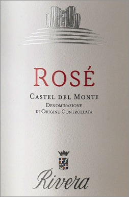 A label example of Castel del Monte DOC rosé produced by Rivera ©Rivera.it