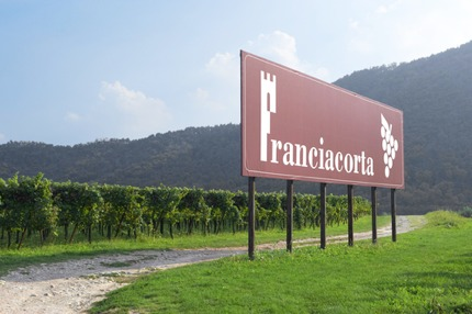 A signage in Franciacorta