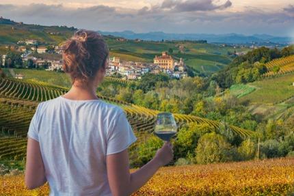 Enjoying the views in Alba, Piedmont