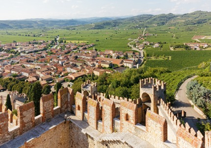 The views of Soave from the Soave Castle