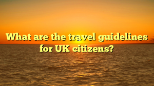 What are the travel guidelines for UK citizens?