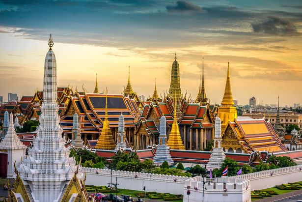 A view of The Grand Palace in Bangkok
