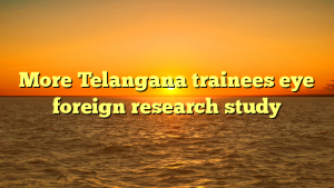 More Telangana trainees eye foreign research study
