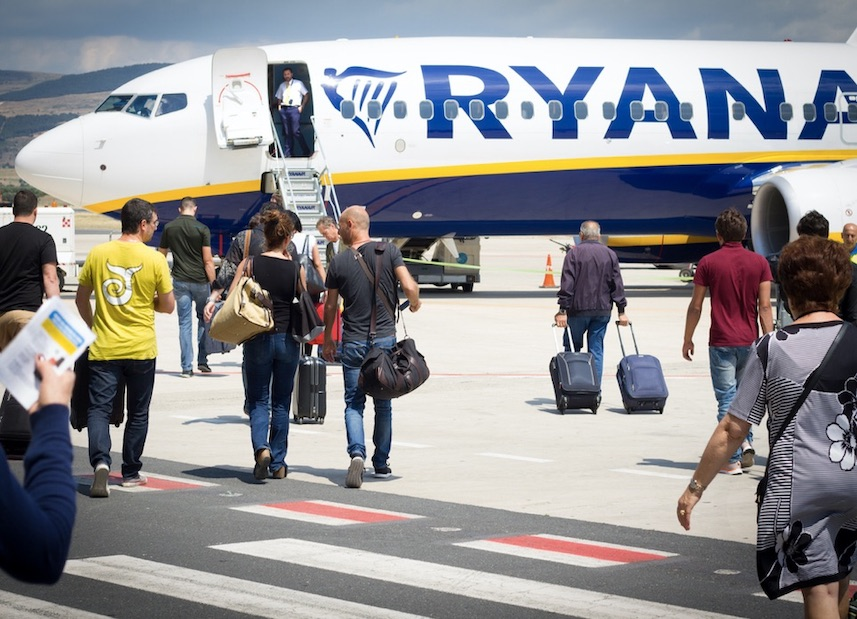 RyanAir asks Ireland to adopt traffic light system