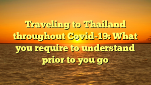 Traveling to Thailand throughout Covid-19: What you require to understand prior to you go