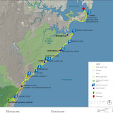 The Great Southern Walking trail, stretching 59km from Botany Bay to the Illawarra Escarpment.