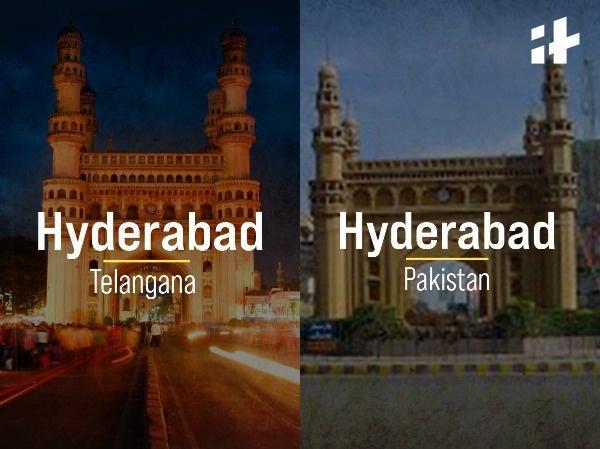 6. Hyderabad, Telangana   Hyderabad, Pakistan