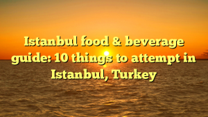 Istanbul food & beverage guide: 10 things to attempt in Istanbul, Turkey