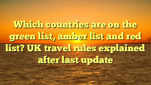 Which countries are on the green list, amber list and red list? UK travel rules explained after last update