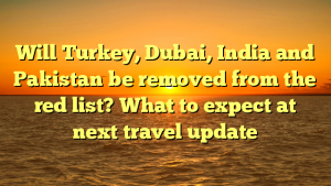 Will Turkey, Dubai, India and Pakistan be removed from the red list? What to expect at next travel update