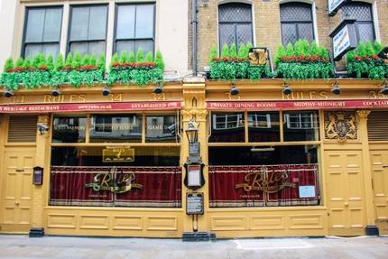 Rules restaurant in Covent Garden