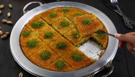 A slice of künefe - Istanbul food and drink guide