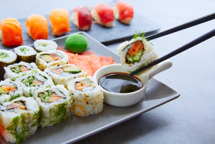 California roll and sushi maki
