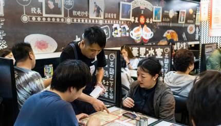 Tea restaurant in Wan Chai, Hong Kong